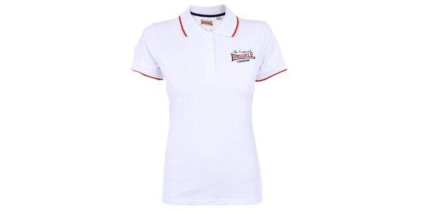 Dámske biele polo tričko Lonsdale