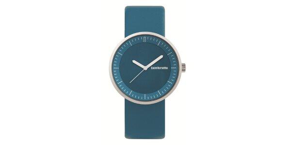 Modré hodinky s koženým remienkom Lambretta