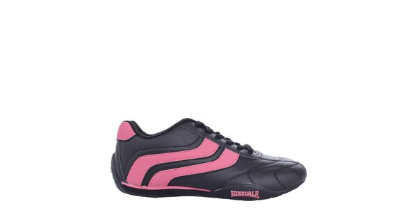 Dámske čierno-ružové tenisky Lonsdale