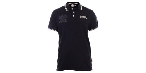 Pánske čierne slim fit polo tričko Lonsdale