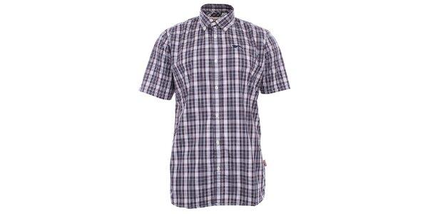 Pánska kockovaná košeľa s krátkym rukávom Lonsdale