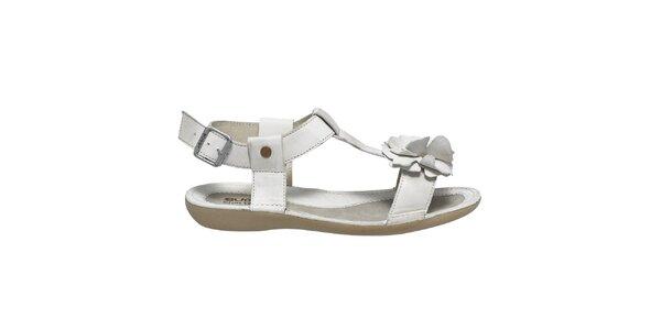 Dámske biele sandále s kvetinkou Buggy