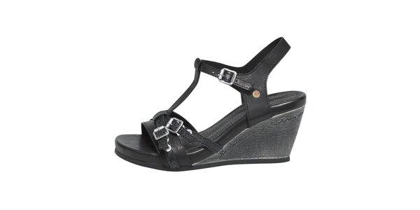 Dámske čierne sandále s prackami Buggy