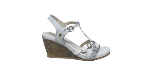 Dámske biele sandále s prackami Buggy