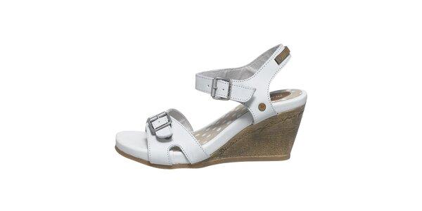 Dámske biele sandálky na kline Buggy