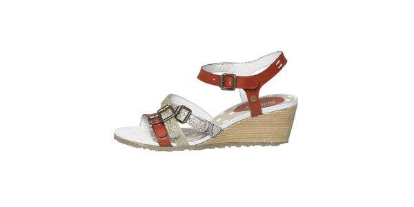 Dámske viacfarebné sandále na kline Buggy
