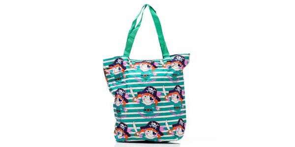 Dámska pruhovaná nákupná taška s obrázkami Rosalinda McGee