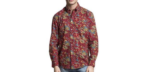 Pánska viacfarebná košeľa s dlhým rukávom Yhoss