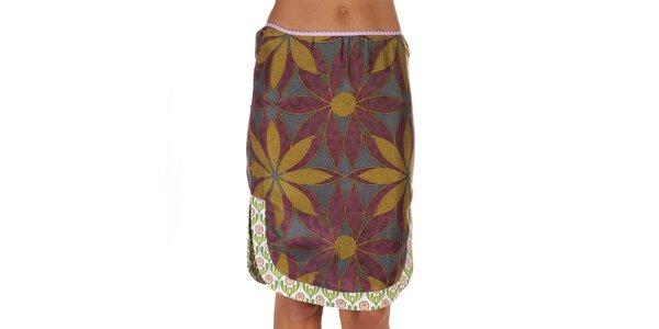 Dámska farebná sukňa s veľkými kvetmi Custo Barcelona