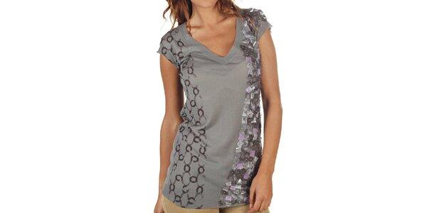 Dámske šedé predĺžené tričko Custo Barcelona