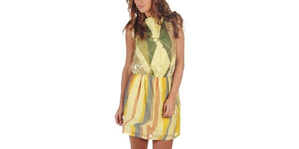 Dámske viacfarebné šaty s flitrami Custo Barcelona