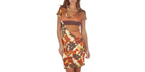 Dámske pestrofarebné asymetrické šaty Custo Barcelona