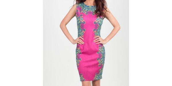 Dámske ružové šaty s kvetinovým vzorom Chaser