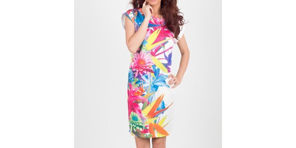 Dámske pestrofarebné kvetinové šaty Chaser