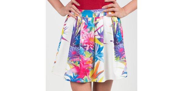 Dámska biela sukňa s kvetmiChaser