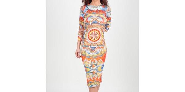 Dámske šaty s indickým vzorom Chaser