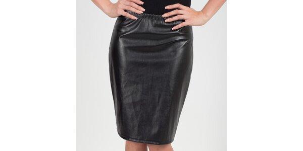 Dámska čierna lesklá sukňa Chaser
