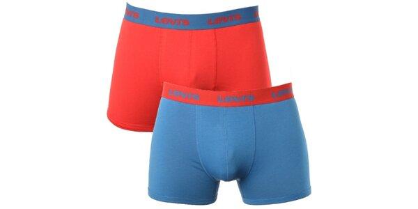 Set 2 pánskych boxeriek Levi's - červené a modré
