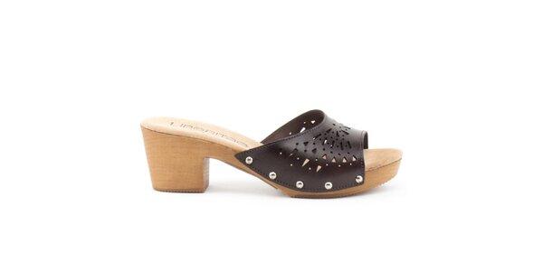 Dámske kožené sandále s perforovaným remienkom Liberitae