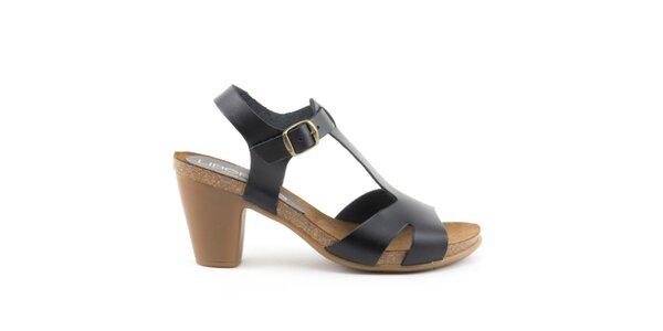 Dámske čierne sandále s prackou Liberitae