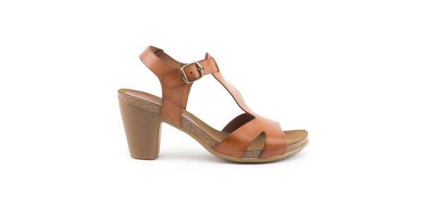 Dámske hnedé sandále s prackou Liberitae