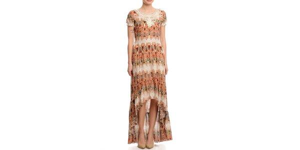 Dámske dlhé šaty s asymetrickou sukňou Butik 7279