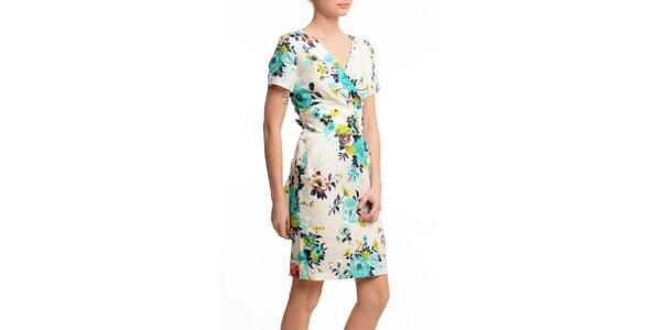 Dámske krátke šaty so zavinovacím výstrihom Butik 7279