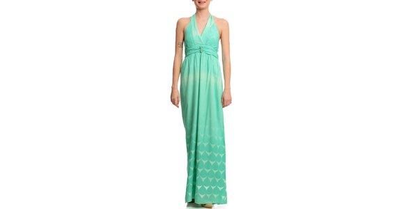 Dámske dlhé zelené šaty Butik 7279