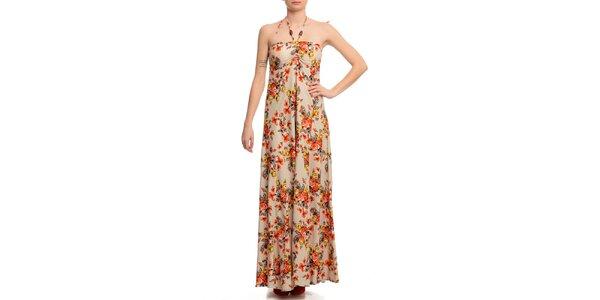 Dámske farebné šaty s potlačou Butik 7279
