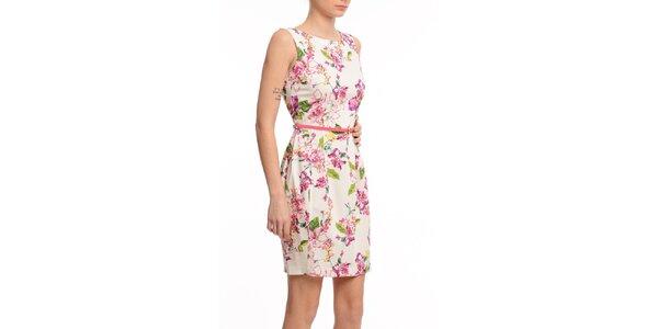 Dámske púzdrové šaty s kvetinovou potlačou Butik 7279