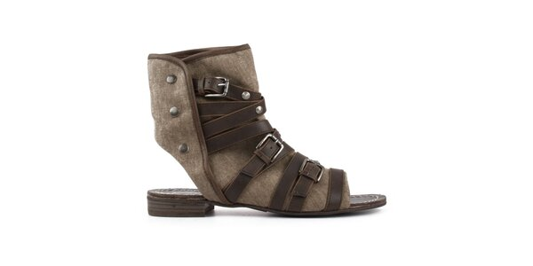 Dámske topánky s hnedými remienkami Elite Models Fashion