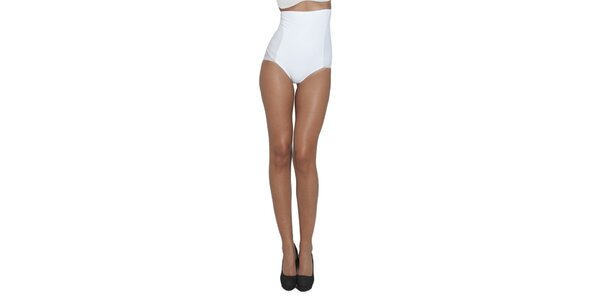 Dámske biele sťahovacie nohavičky My Shapes s vysokým pásom