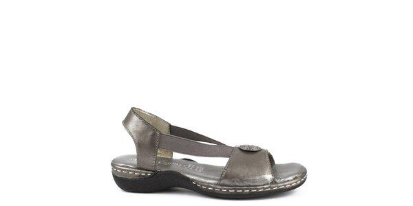 Dámske šedé kožené sandále Bel Canto