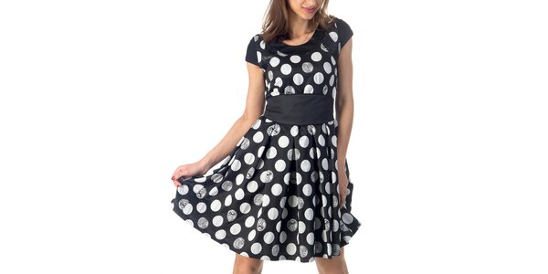 Dámske šaty s bodkami Nelita