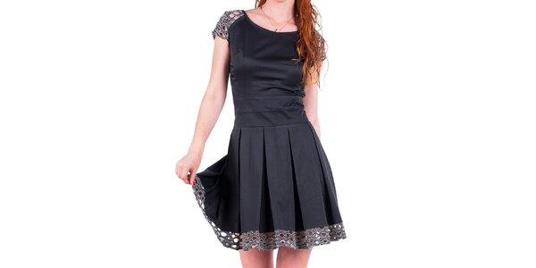 Dámske šaty s ozdobnou perforáciou Nelita