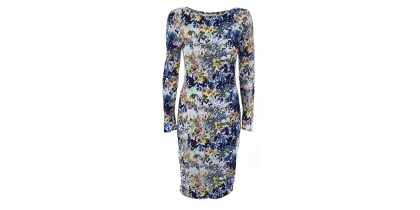 Dámske šaty s farebnou kvetinovou potlačou Melli London