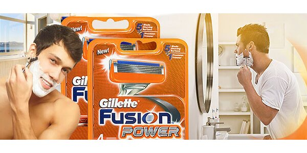 Náhradné hlavice Gillette FUSION a MACH3