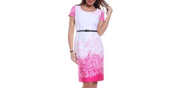 Dámske bielo-ružové púzdrové šaty Melli London