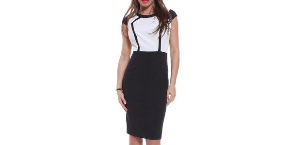 Dámske čierno-biele púzdrové šaty Melli London