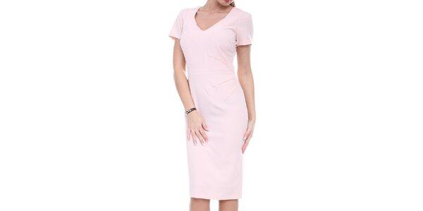 Dámske ružové púzdrové šaty Melli London