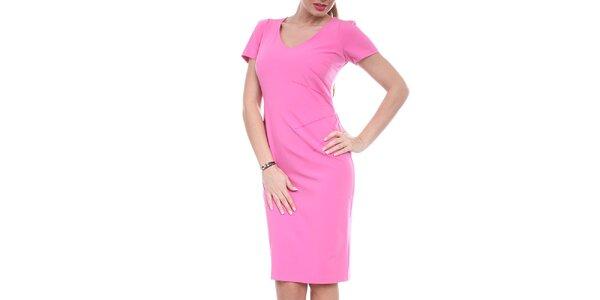 Dámske sýto ružové púzdrové šaty Melli London