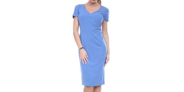 Dámske modré púzdrové šaty Melli London