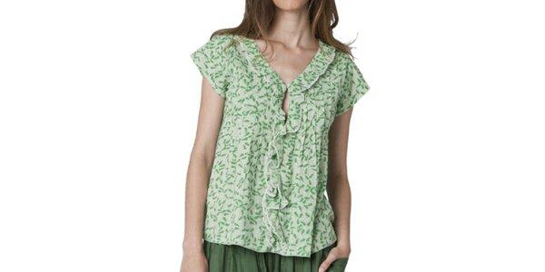 Dámska blúzka so zeleným vzorom Yhoss