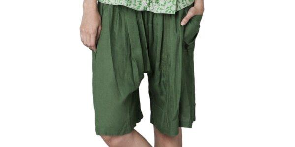 Dámske zelené šortky Yhoss