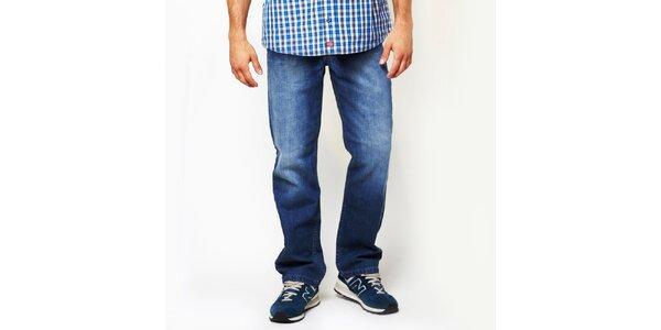 Pánske modré džínsy so šisovaním Dickies