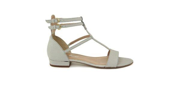 Dámske svetlo hnedé kožené gladiátorské sandále Giorgio Picino