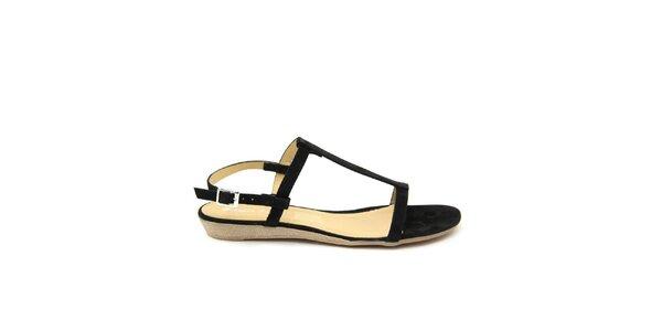Dámske čierne kožené sandálky Giorgio Picino