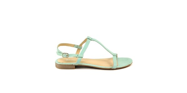 Dámske zelenkavé kožené sandále Giorgio Picino