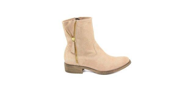 Dámske púdrové semišové členkové topánky Giorgio Picino