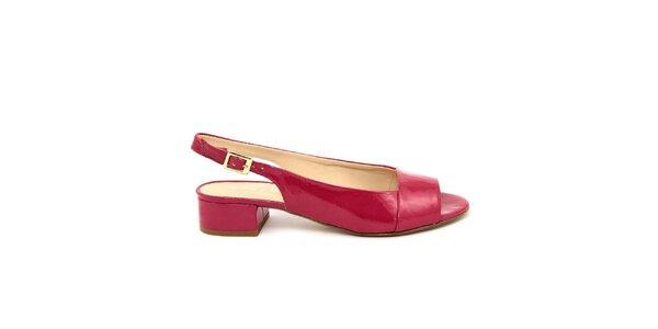 Dámske fuchsiové kožené sandálky s opätkom Giorgio Picino